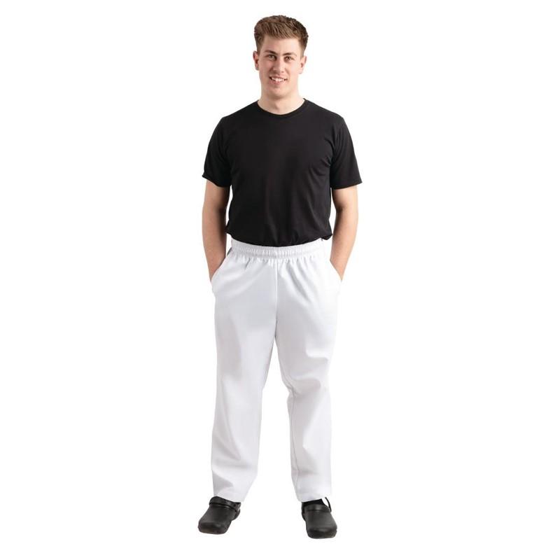 Whites Easyfit Teflon unisex koksbroek wit M