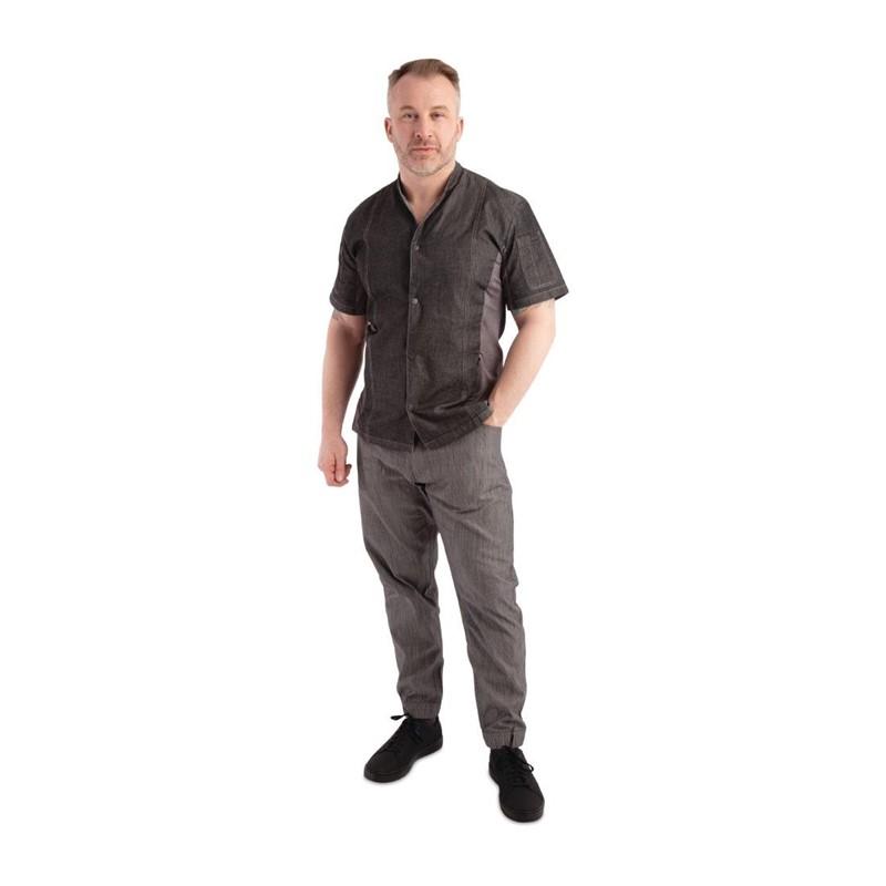 Chef Works Urban Jogger 257 koksbroek zwart-wit fijn gestreept XL