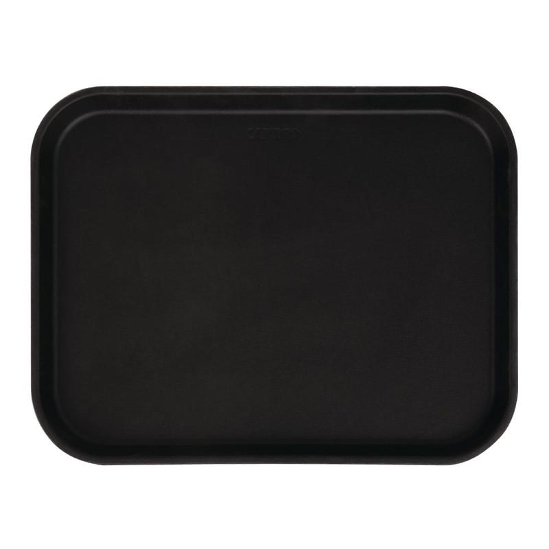 Cambro Camtread rechthoekig antislip glasvezel dienblad zwart 45,7cm