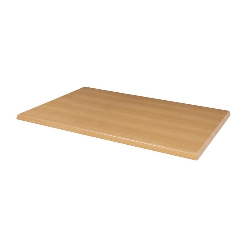 Bolero rechthoekig tafelblad beuken