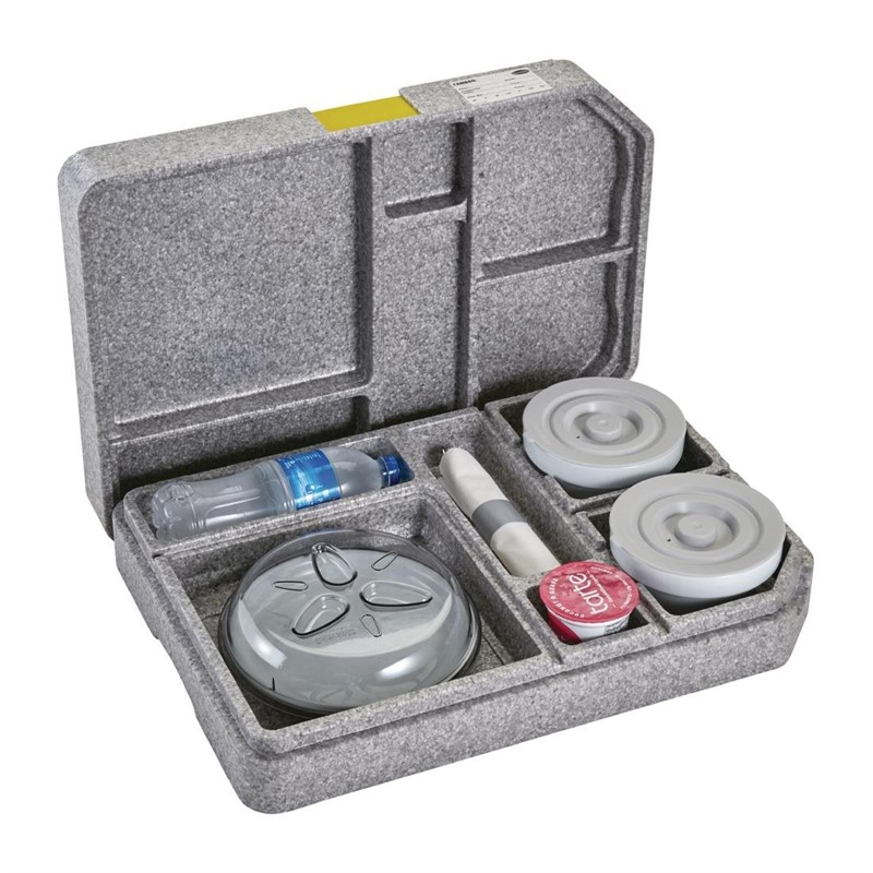 Cambro Tablotherm GoBox maaltijdbezorgingssysteem met servies