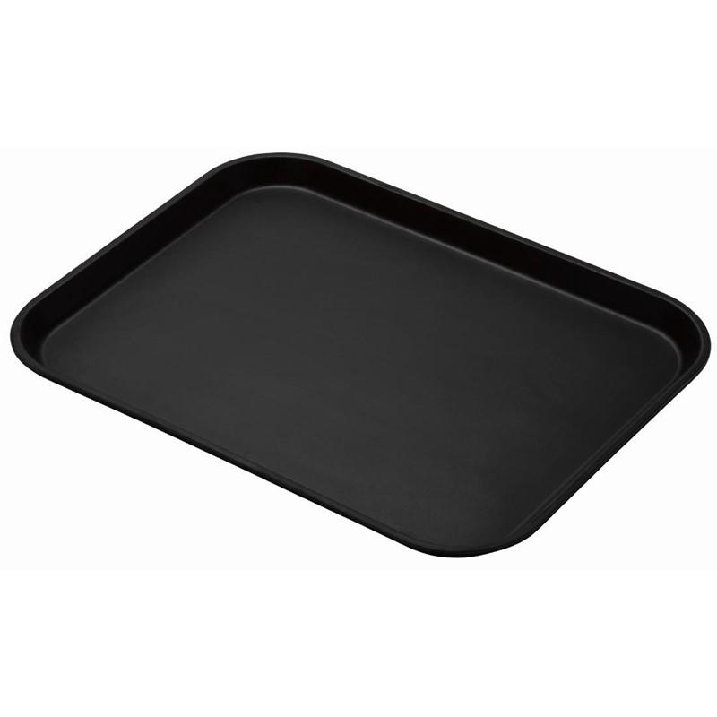 Cambro Treadlite rechthoekig antislip glasvezel dienblad zwart 45,7×35,5cm