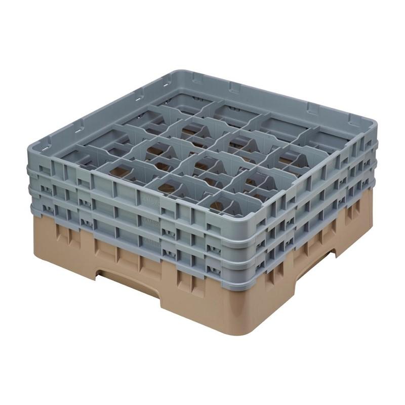 Cambro Camrack vaatwaskorf met 16 compartimenten max. glashoogte 17,4cm