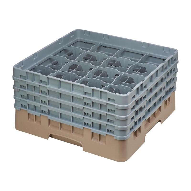 Cambro Camrack vaatwaskorf met 16 compartimenten max. glashoogte 21,5cm