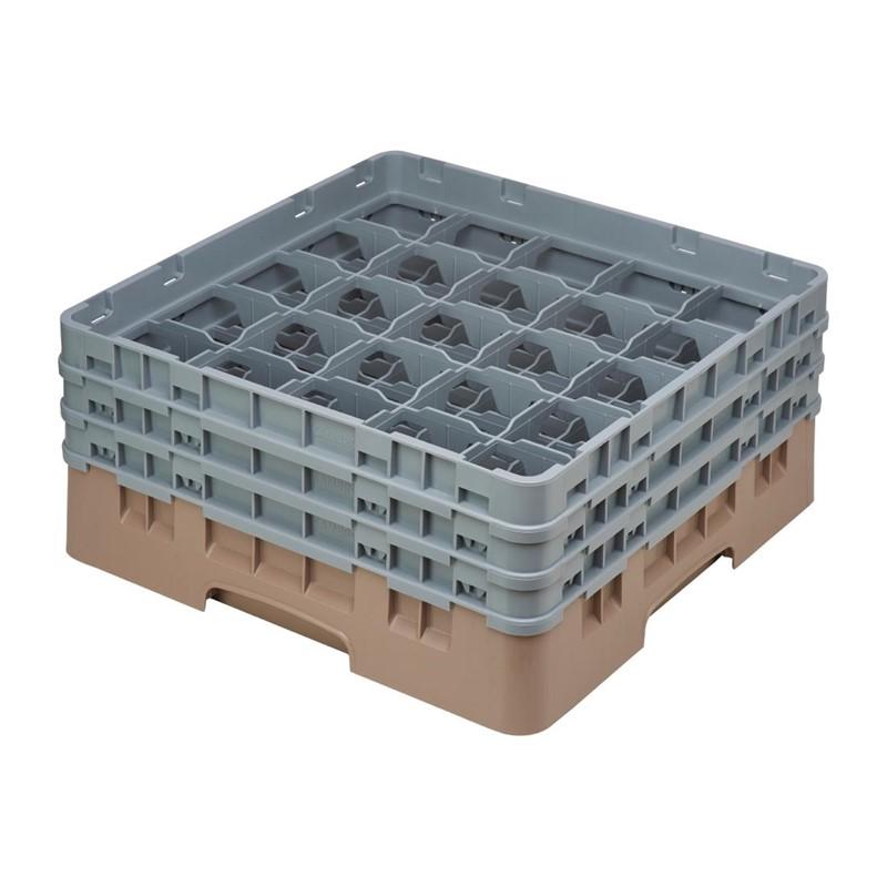 Cambro Camrack vaatwaskorf met 25 compartimenten max. glashoogte 17,4cm