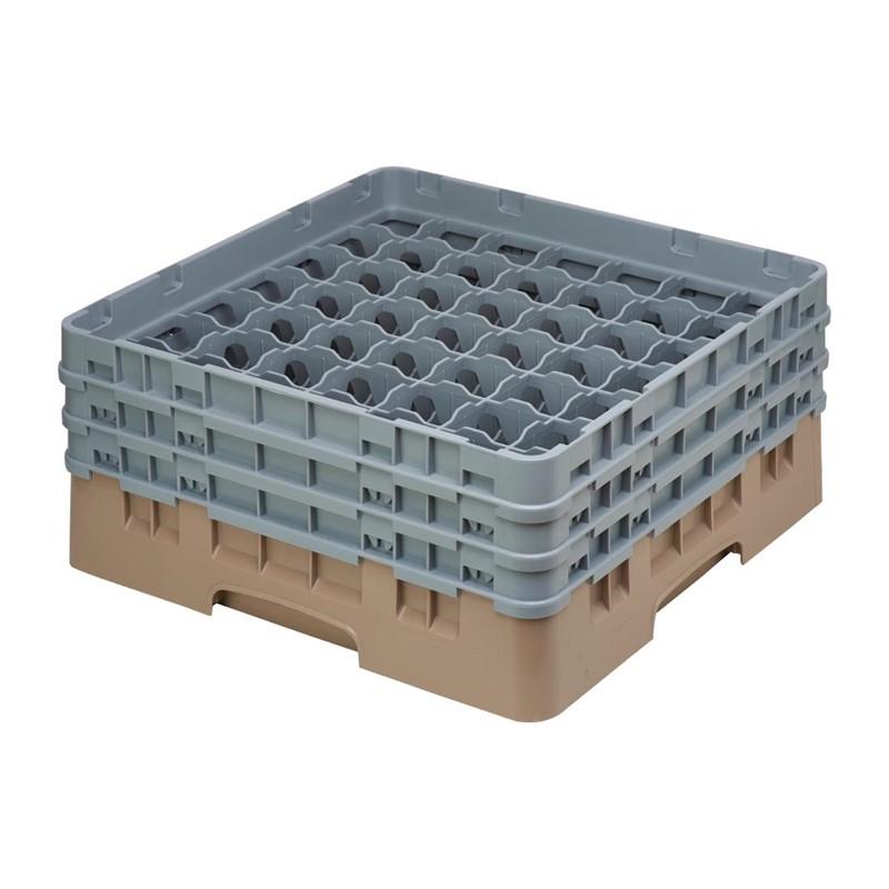 Cambro Camrack vaatwaskorf met 49 compartimenten max. glashoogte 17,4cm