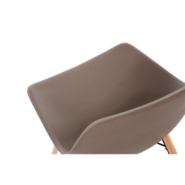 Bolero Arlo polypropyleen stoelen met houten poten bruin