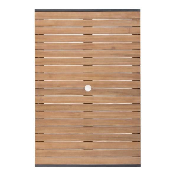 Bolero rechthoekige stalen en acaciahouten tafel 120x80cm