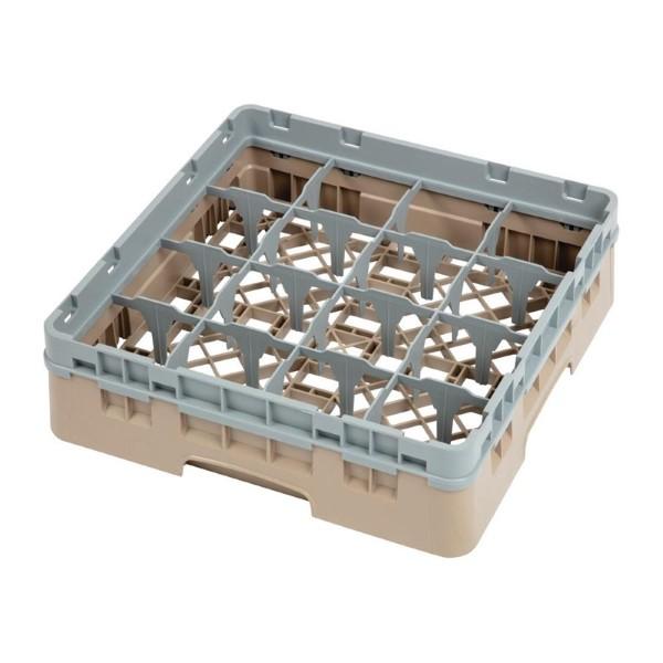 Cambro Camrack vaatwaskorf met 16 compartimenten max. glashoogte 9,2cm