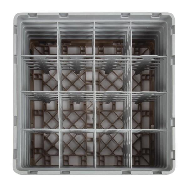 Cambro Camrack vaatwaskorf met 16 compartimenten max. glashoogte 25,7cm