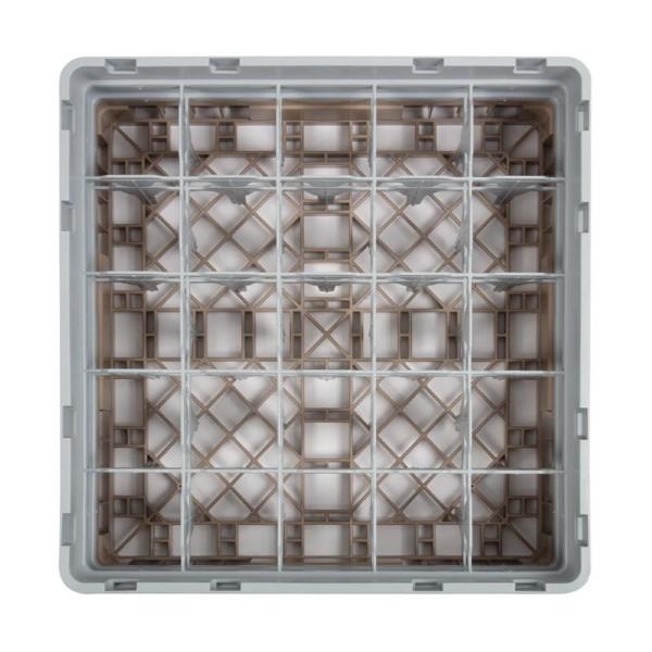 Cambro Camrack vaatwaskorf met 25 compartimenten max. glashoogte 13,3cm
