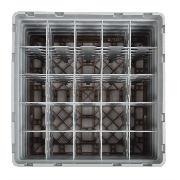 Cambro Camrack vaatwaskorf met 25 compartimenten max. glashoogte 25,7cm