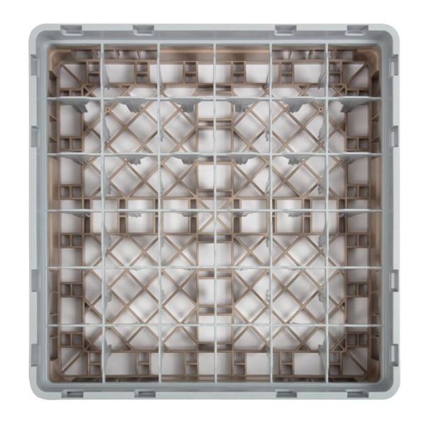 Cambro Camrack vaatwaskorf met 36 compartimenten max. glashoogte 9,2cm