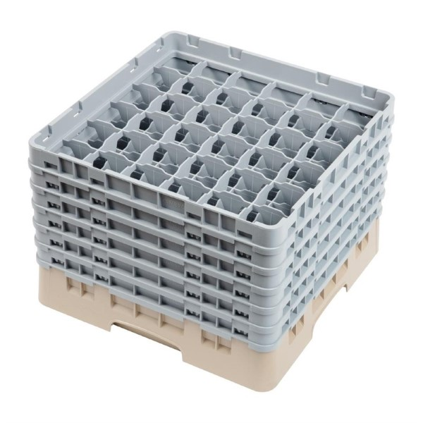 Cambro Camrack vaatwaskorf met 36 compartimenten max. glashoogte 29,8cm
