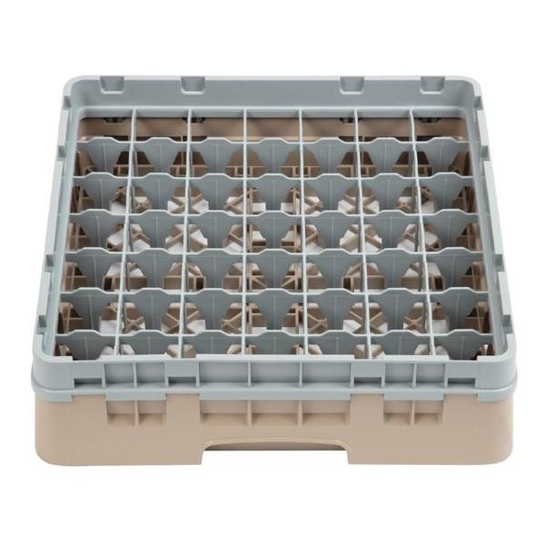 Cambro Camrack vaatwaskorf met 49 compartimenten max. glashoogte 9,2cm