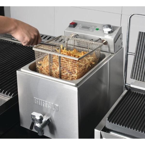 Buffalo enkele friteuse 8L 2900W met timer
