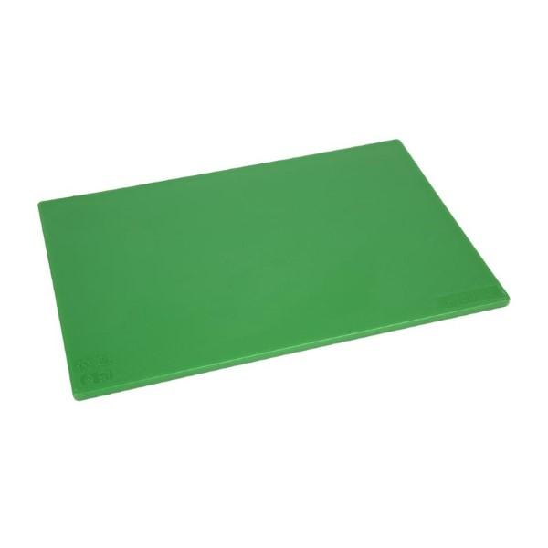 Hygiplas antibacteriële LDPE snijplank groen 450x300x10mm