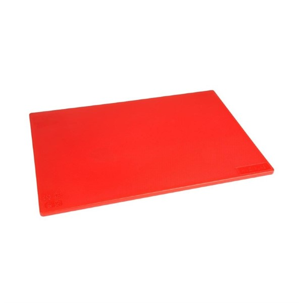 Hygiplas antibacteriële LDPE snijplank rood 450x300x10mm