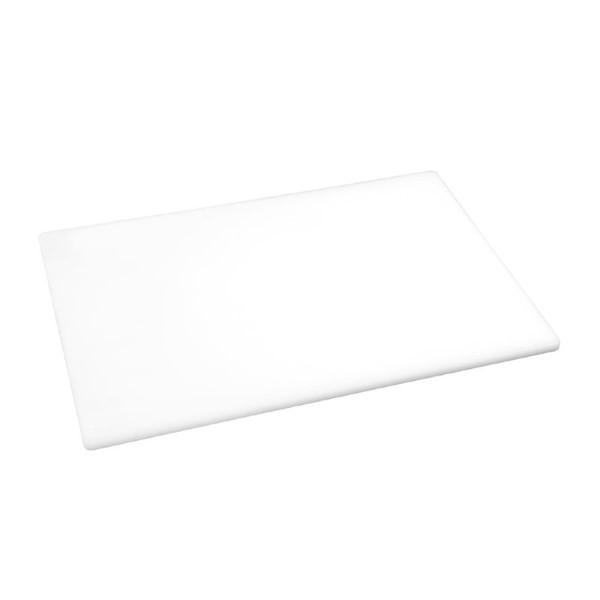 Hygiplas antibacteriële LDPE snijplank wit 450x300x10mm