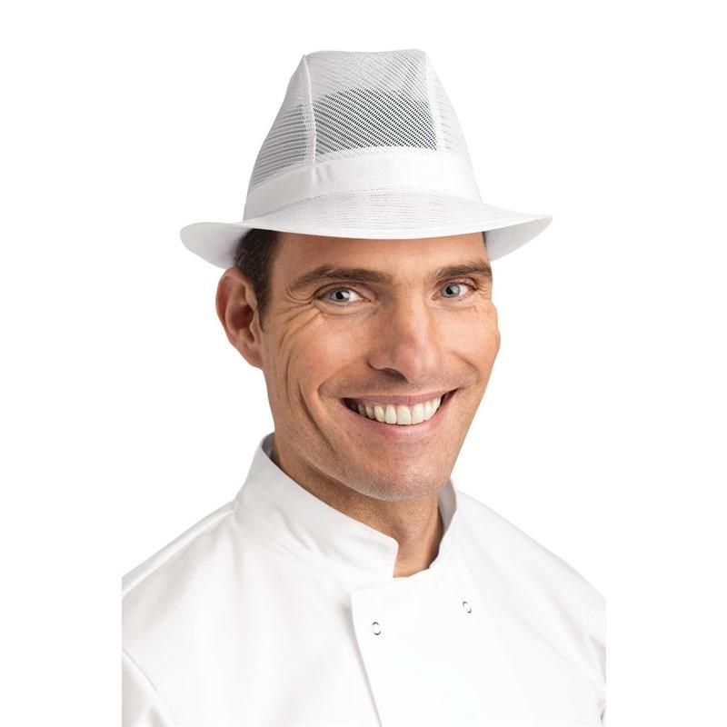 Trilby hoed zonder haarnet wit L