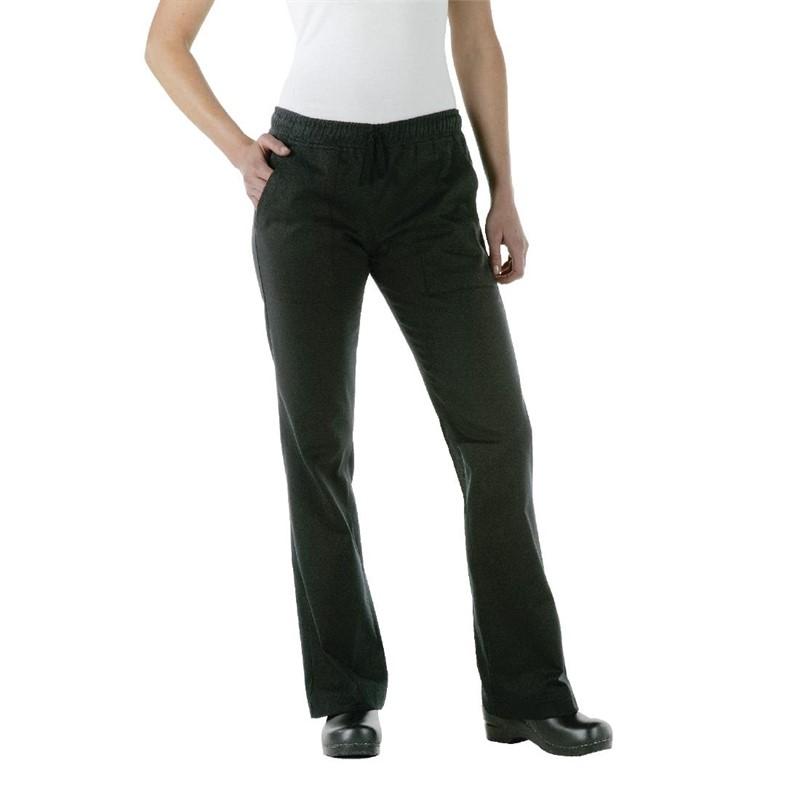 Chef Works Executive dames pantalon zwart XS