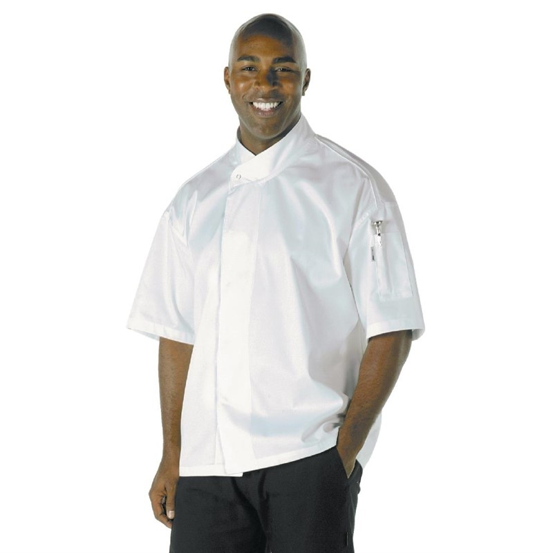 Chef Works Tours Executive Cool Vent unisex koksbuis korte mouw wit L