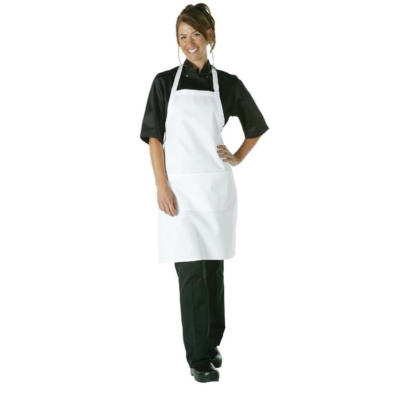 Chef Works halterschort wit