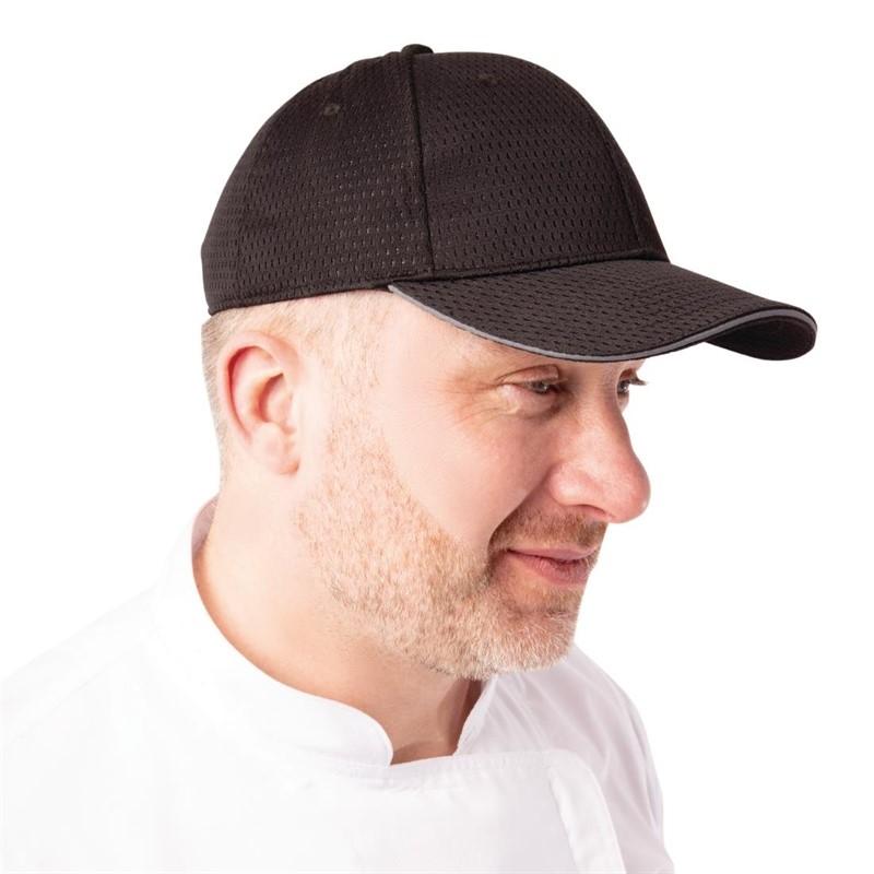 Chef Works Cool Vent baseball cap zwart en grijs