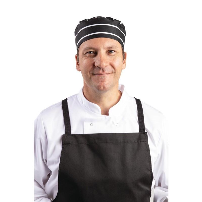 Whites skullcap zwart-wit gestreept