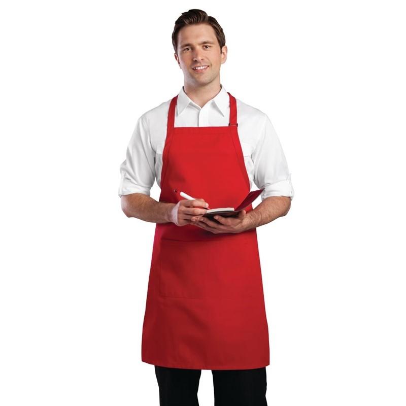 Chef Works halterschort rood