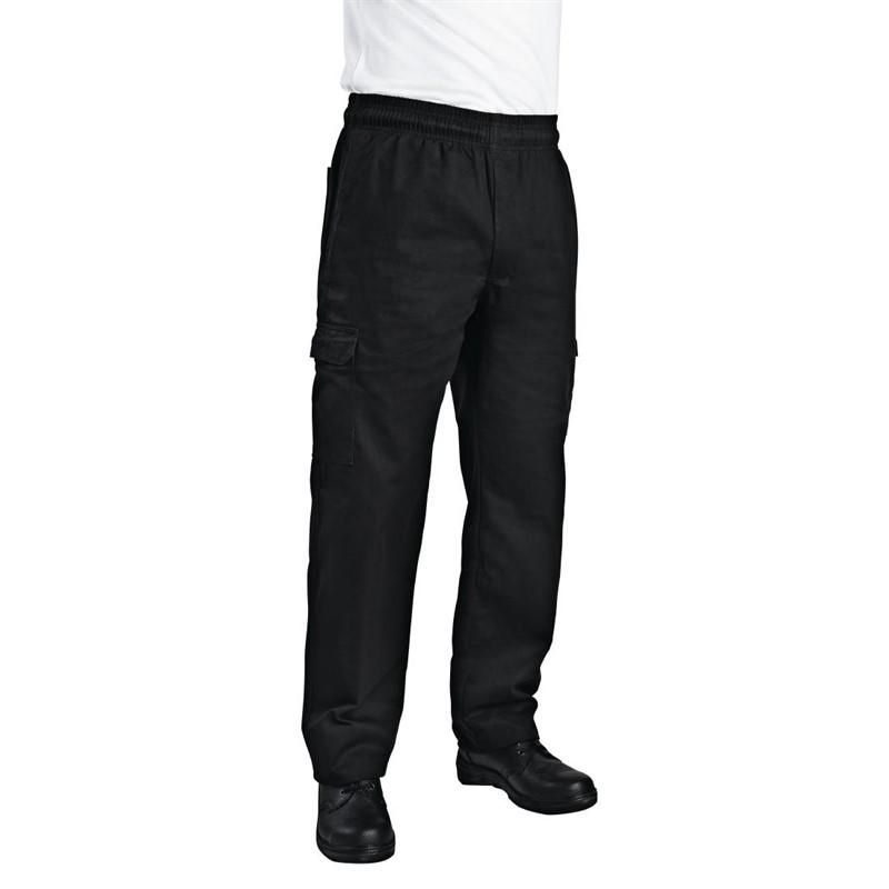 Chef Works unisex slim fit cargo broek zwart XS