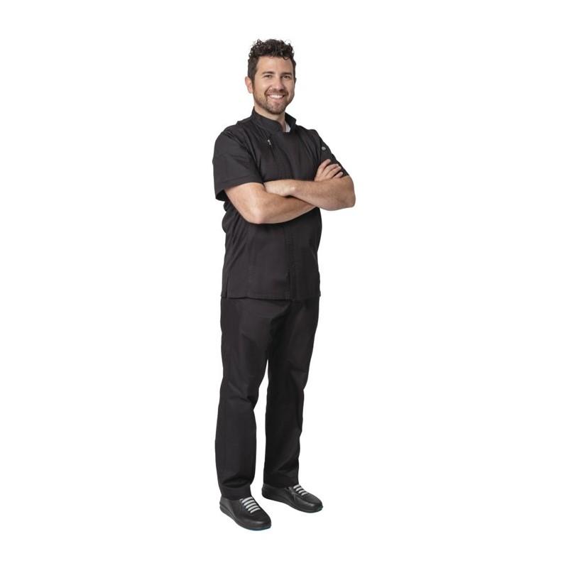 Chef Works Springfield unisex koksbuis met rits zwart XL