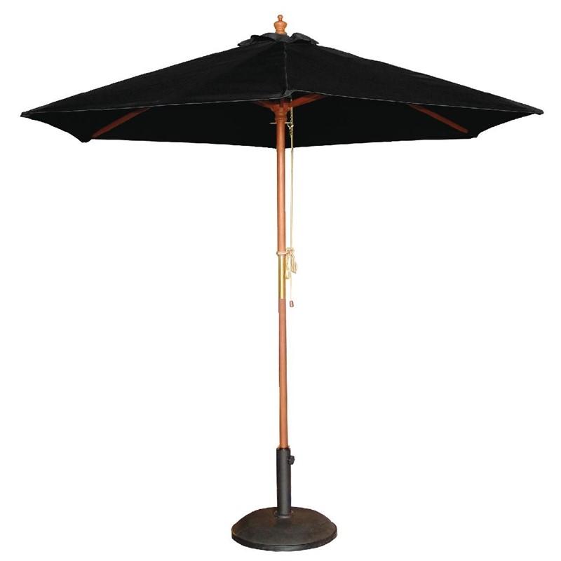 Bolero ronde parasol zwart 2,5 meter