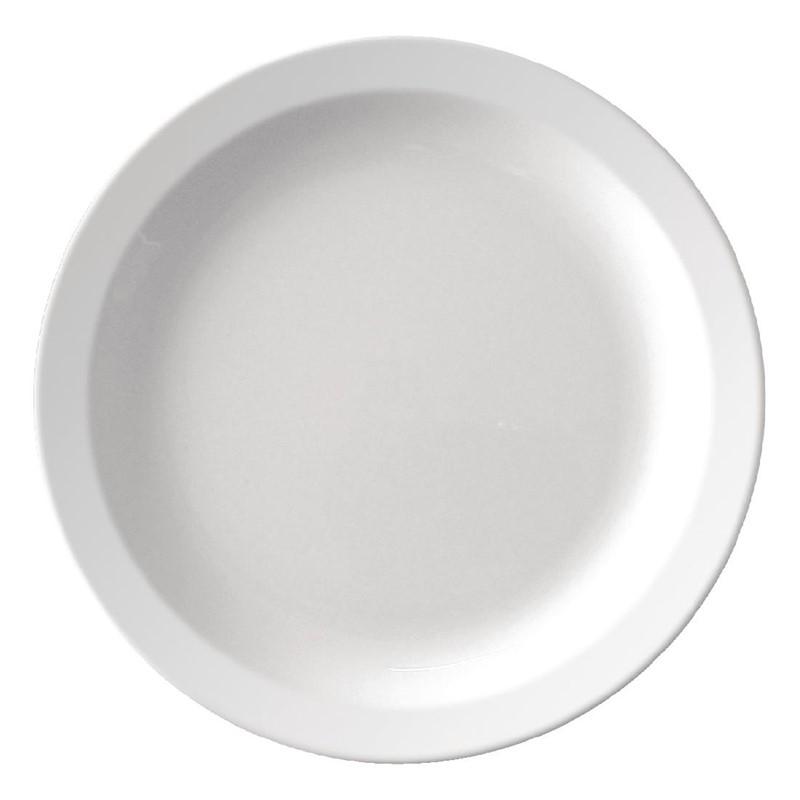 Kristallon melamine bord met smalle rand 16,5cm