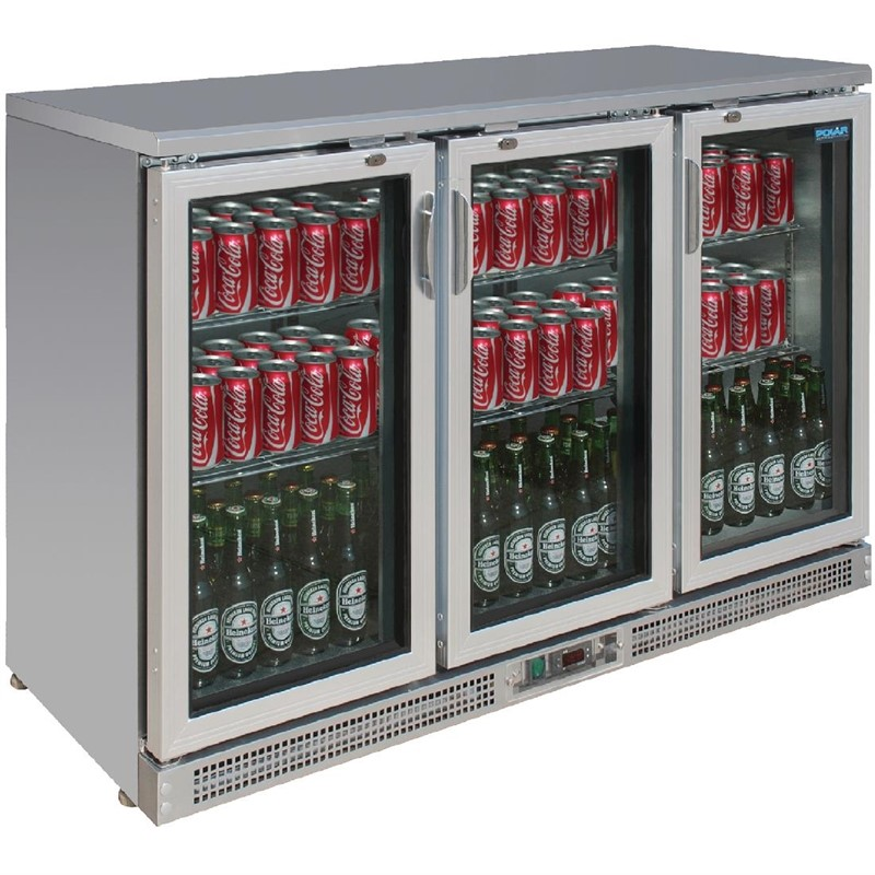 Polar G-serie gekoelde bardisplay met klapdeuren 273 flessen