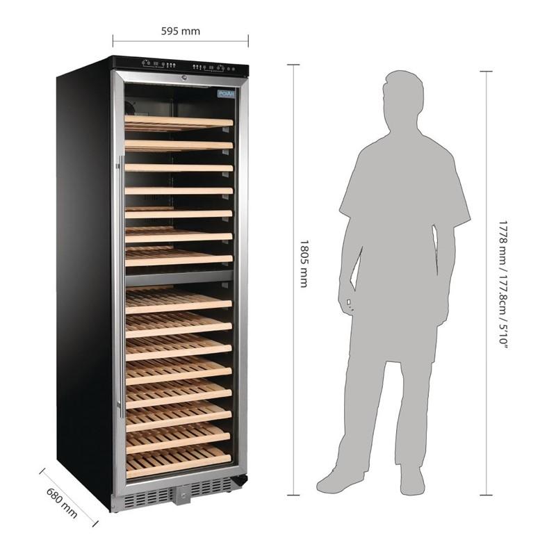 Polar G-serie wijnkoeling met 2 zones 155 flessen