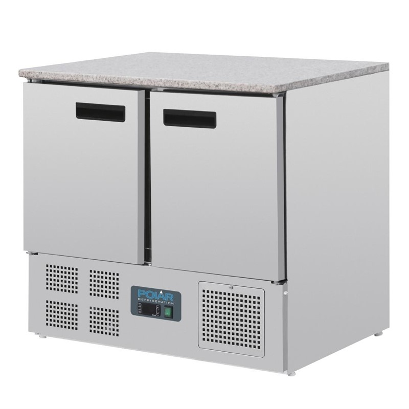 Polar G-serie koelwerkbank met marmeren werkblad 240L