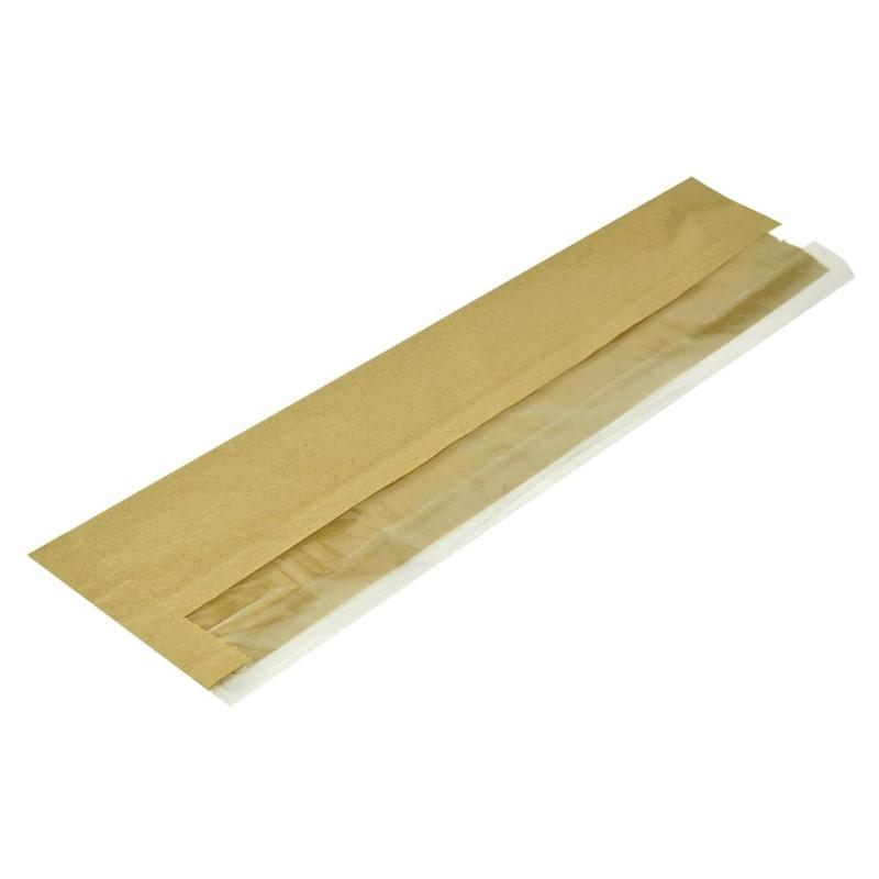 Vegware composteerbare baguettezakken kraftpapier met PLA-venster