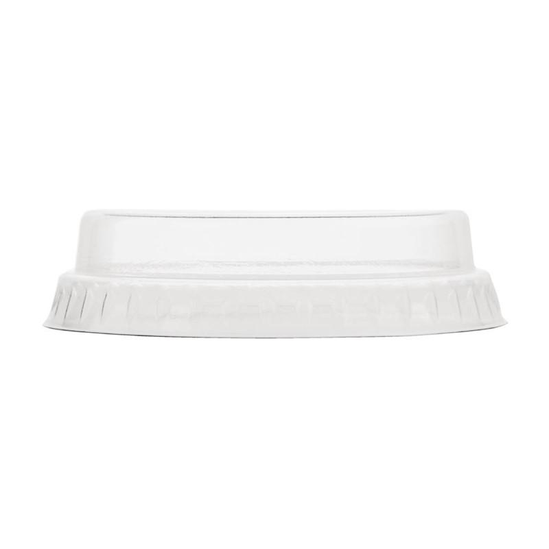 Vegware composteerbare platte deksels zonder gat 20cl