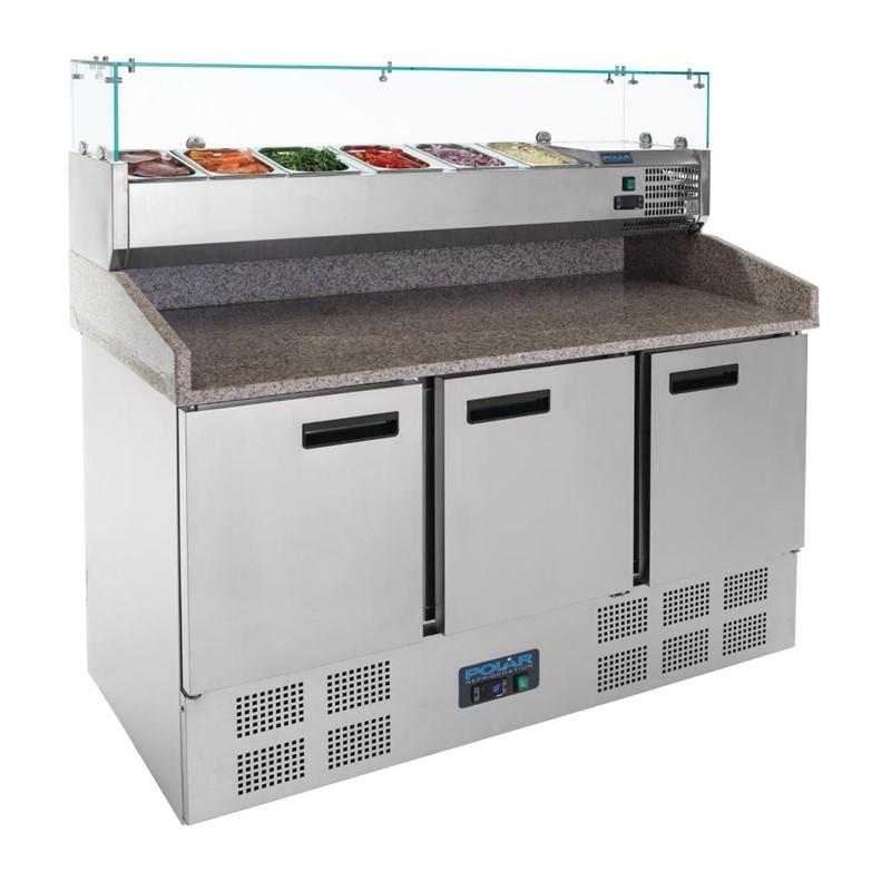 Polar G-serie gekoelde pizza/sandwich prepareercounter 368L