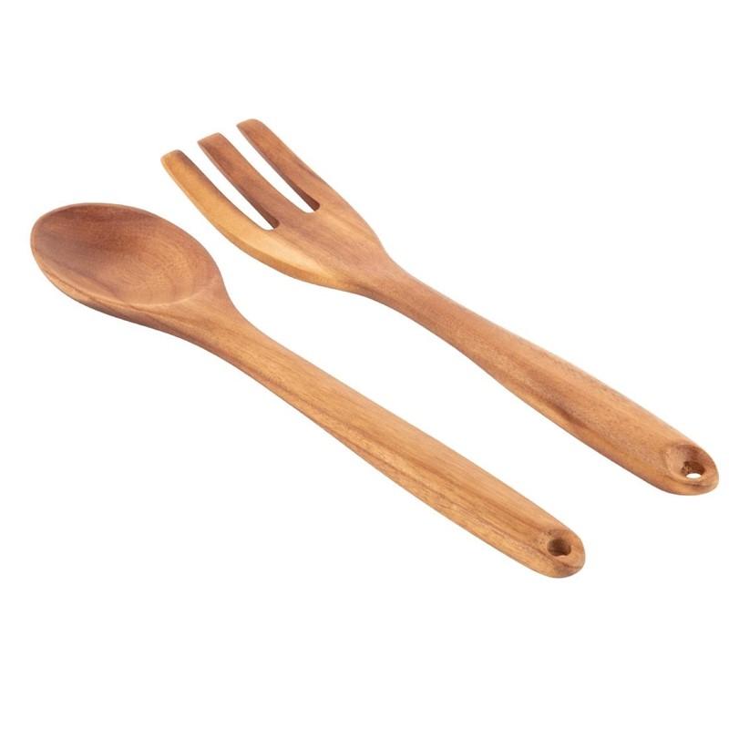 Olympia houten saladebestek