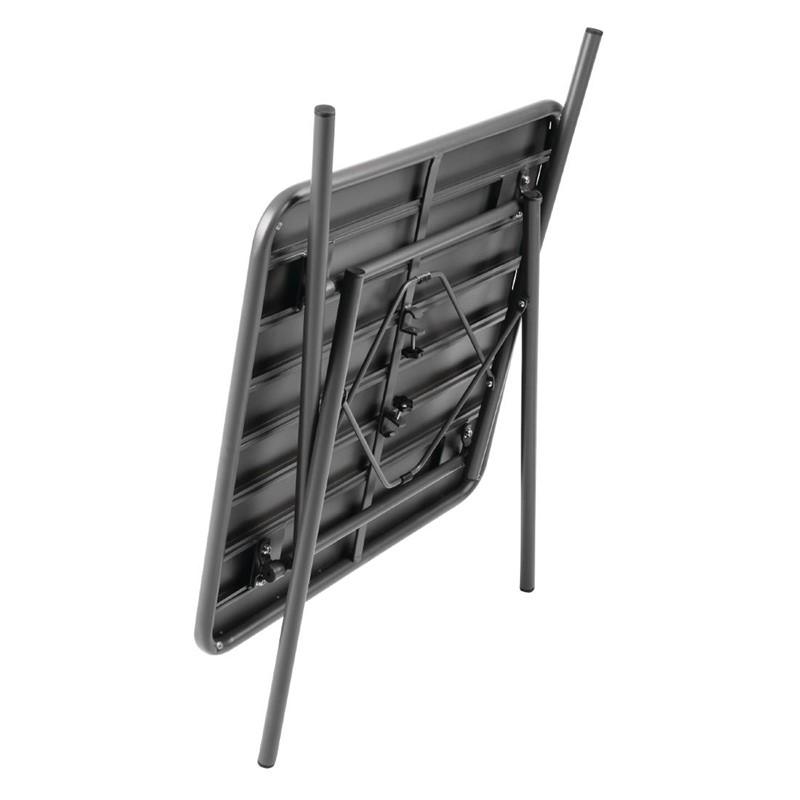 Bolero vierkante stalen tafel grijs 70cm