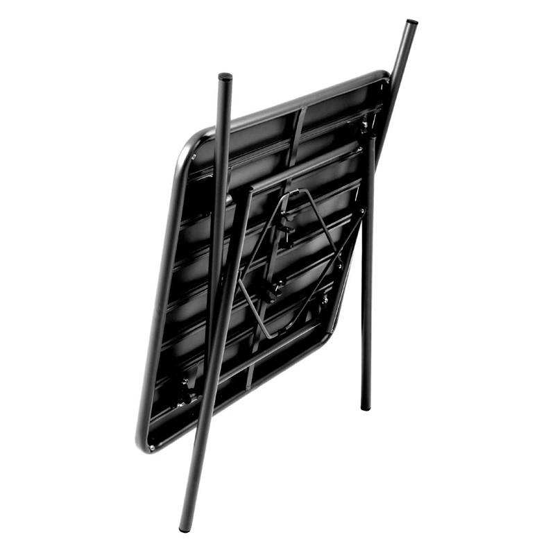 Bolero vierkante stalen tafel zwart 70cm