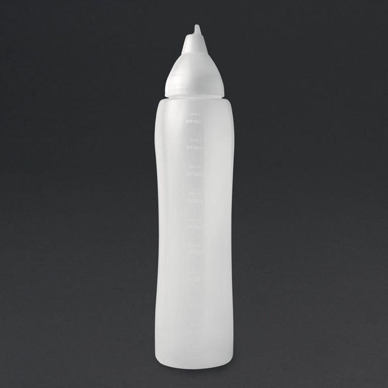 Aravent transparante anti-drup knijpfles 1L
