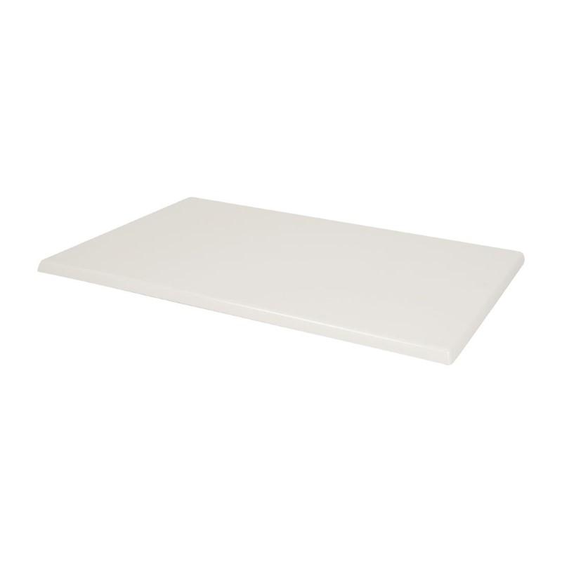 Bolero rechthoekig tafelblad wit