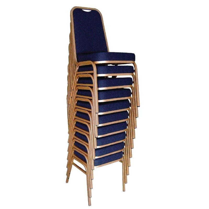 Bolero banketstoel met vierkante rugleuning blauw