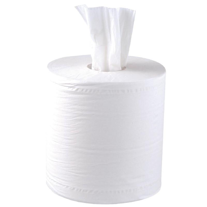 Jantex centrefeed handdoekrollen wit 6 rollen