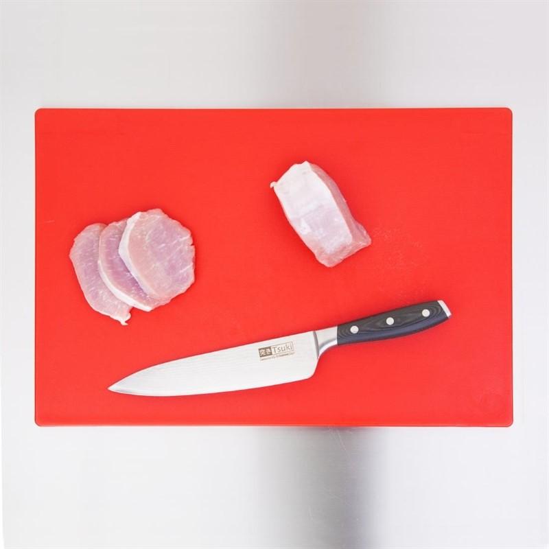 Hygiplas LDPE extra dikke snijplank rood 450x300x20mm