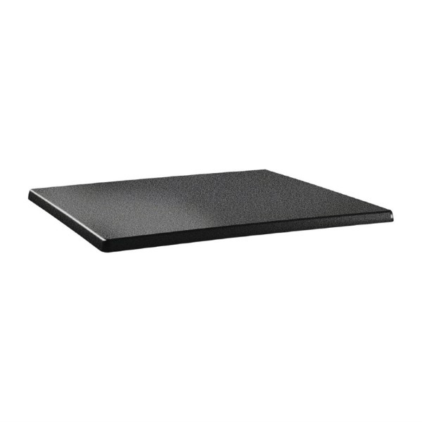 Topalit Classic Line rechthoekig tafelblad antraciet 110x70cm
