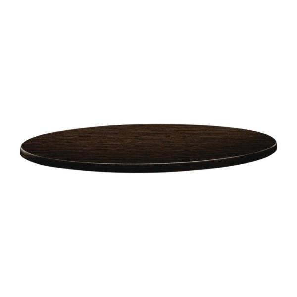 Topalit Classic Line rond tafelblad wengé 70cm